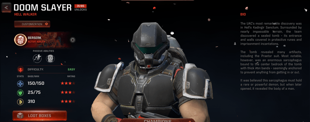 Doom Slayer in Quake Champions