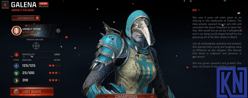 galena champion in quake champions