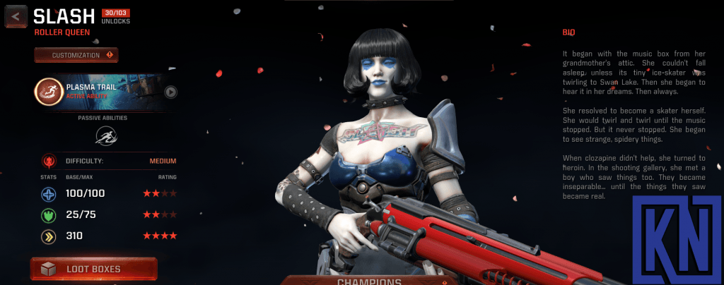 slash champion in quake champions